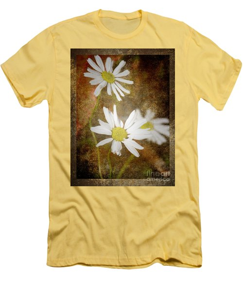 Ox Eye Dasies Men's T-Shirt (Slim Fit) by Lynn Bolt