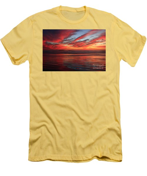 Men's T-Shirt (Slim Fit) featuring the photograph Oceanside Reflections by John F Tsumas