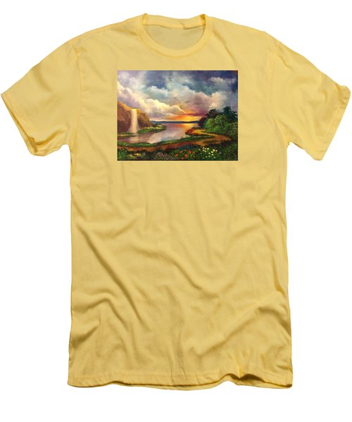 Paradise And Beyond Men's T-Shirt (Athletic Fit)