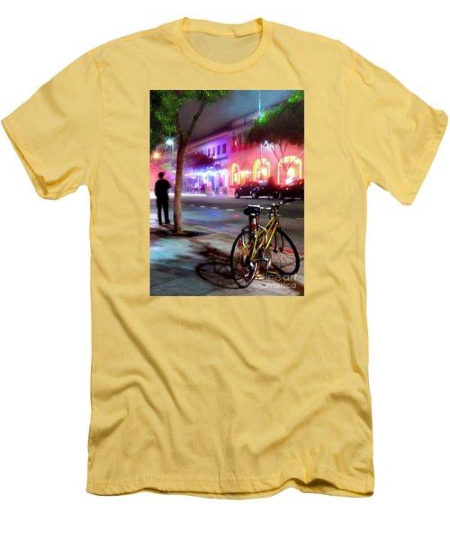 Men's T-Shirt (Slim Fit) featuring the photograph Paris In Santa Monica by Jennie Breeze
