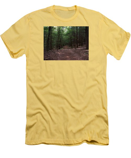 Path In The Woods Men's T-Shirt (Slim Fit) by Catherine Gagne