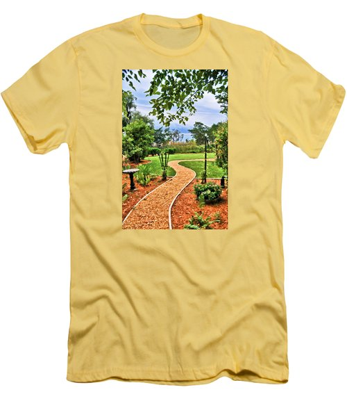 Garden Path To Wild Marsh Men's T-Shirt (Athletic Fit)