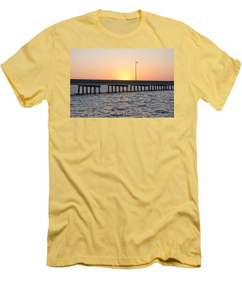 Peace River Bridge - Punta Gorda Florida Men's T-Shirt (Athletic Fit)