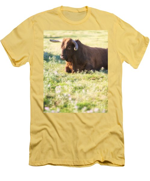 Men's T-Shirt (Slim Fit) featuring the photograph Peaceful by Erika Weber