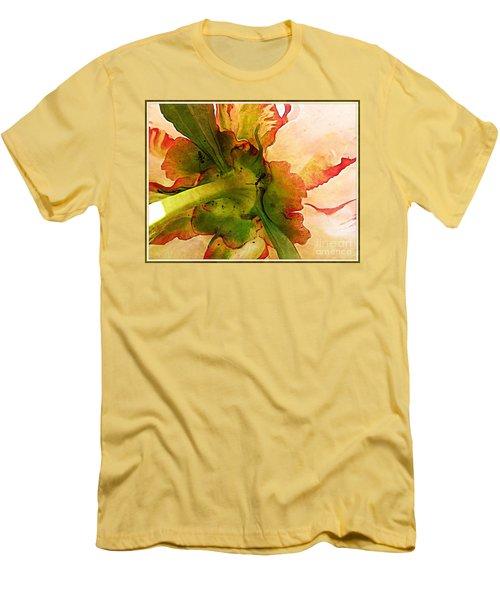 Peony Flirt Men's T-Shirt (Slim Fit) by Jolanta Anna Karolska