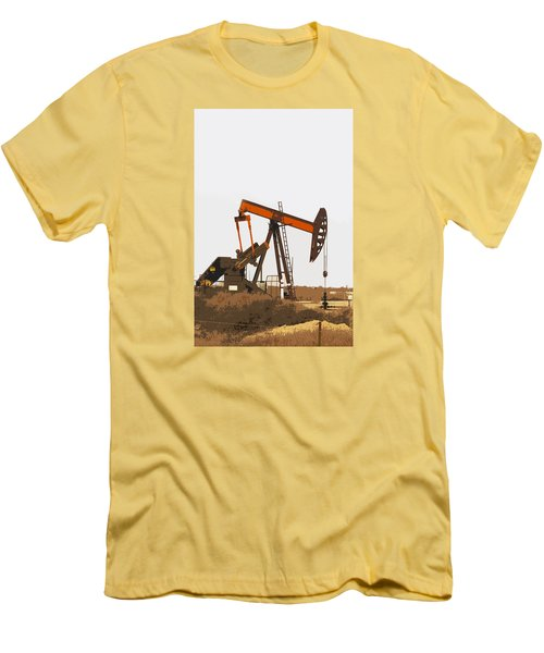 Petroleum Pumping Unit Men's T-Shirt (Slim Fit) by Art Block Collections