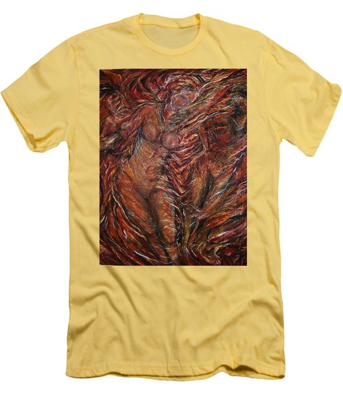 Trumpets Aired Men's T-Shirt (Slim Fit) by Dawn Fisher
