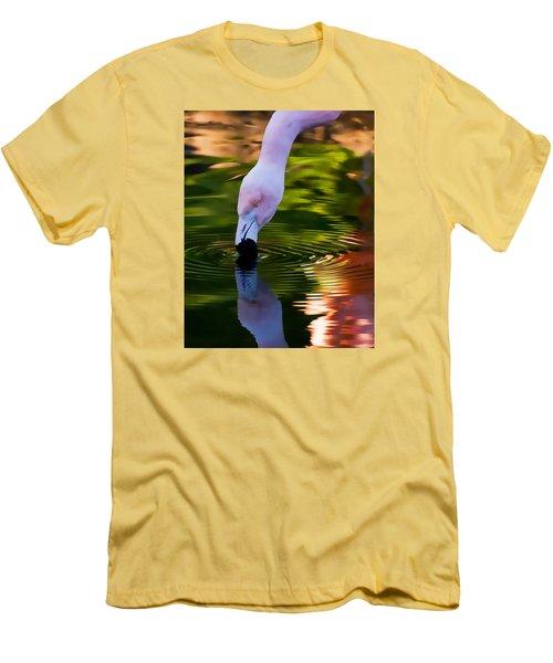 Pink Flamingo Reflection Men's T-Shirt (Athletic Fit)