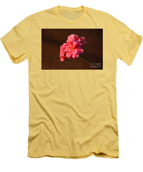 Men's T-Shirt (Slim Fit) featuring the photograph Pink by Ramona Matei