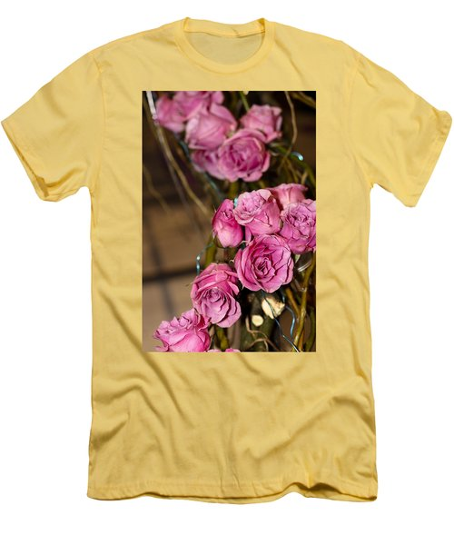 Men's T-Shirt (Slim Fit) featuring the photograph Pink Roses by Patrice Zinck