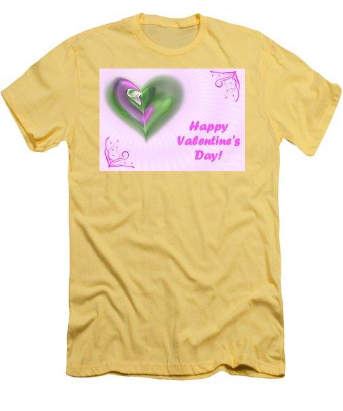 Pink Valentine Men's T-Shirt (Athletic Fit)