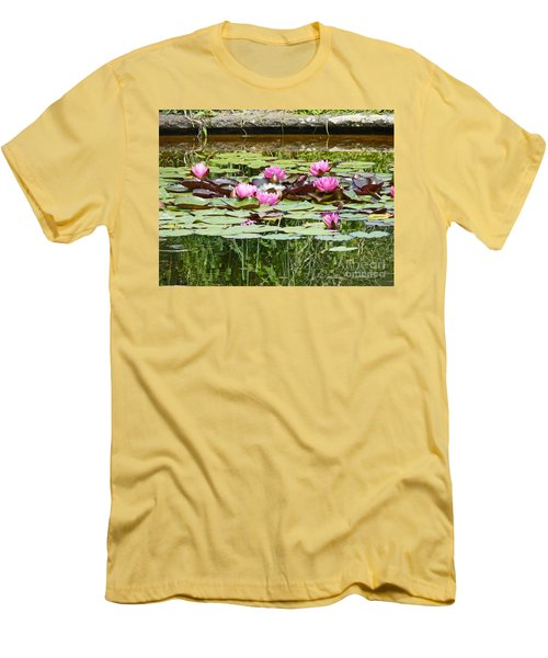 Pink Water Lilies Men's T-Shirt (Athletic Fit)