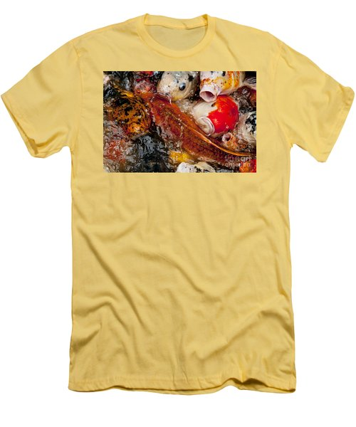 Men's T-Shirt (Slim Fit) featuring the photograph Please Feed Us  by Wilma  Birdwell