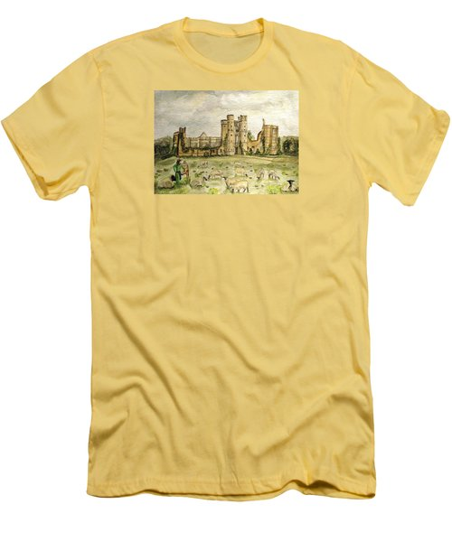 Plein Air Painting At Cowdray House Sussex Men's T-Shirt (Slim Fit) by Angela Davies