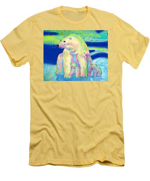 Polar Bear Aurora Men's T-Shirt (Slim Fit) by Teresa Ascone
