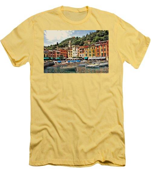 Portofino Harbor 2 Men's T-Shirt (Slim Fit) by Allen Beatty