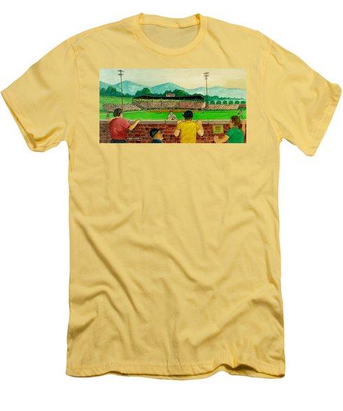 Portsmouth Athletics Vs Muncie Reds 1948 Men's T-Shirt (Slim Fit) by Frank Hunter