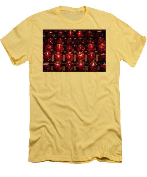 Prayer Candles Men's T-Shirt (Athletic Fit)