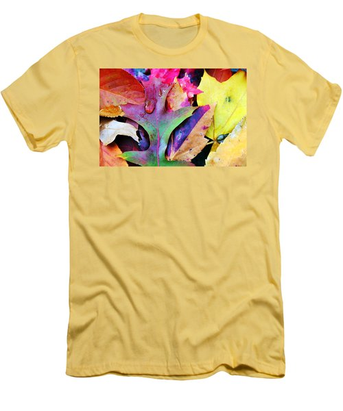 Men's T-Shirt (Slim Fit) featuring the photograph Primary Colors Of Fall by Judy Palkimas