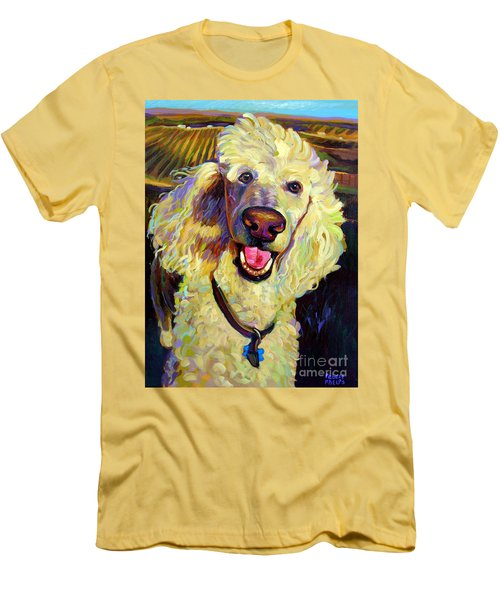 Princely Poodle Men's T-Shirt (Athletic Fit)