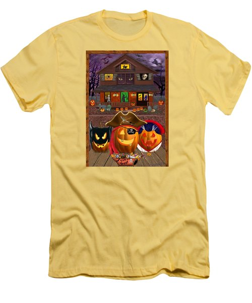 Pumpkin Masquerade Men's T-Shirt (Slim Fit) by Glenn Holbrook