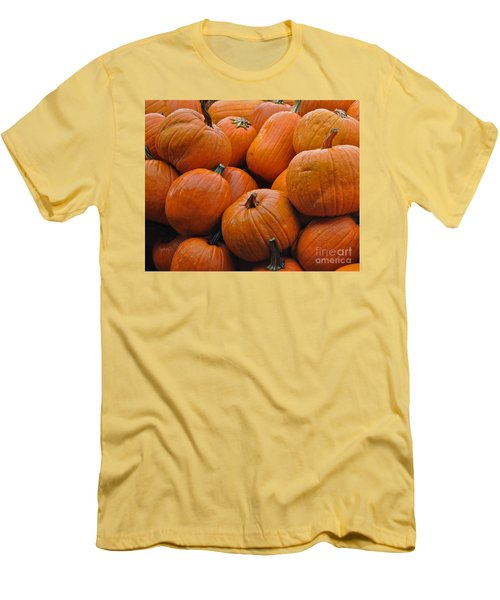 Men's T-Shirt (Athletic Fit) featuring the photograph Pumpkin Pile by Tikvah's Hope