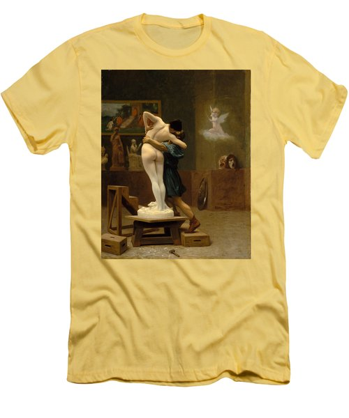 Pygmalion And Galatea Men's T-Shirt (Slim Fit) by Jean-Leon Gerome