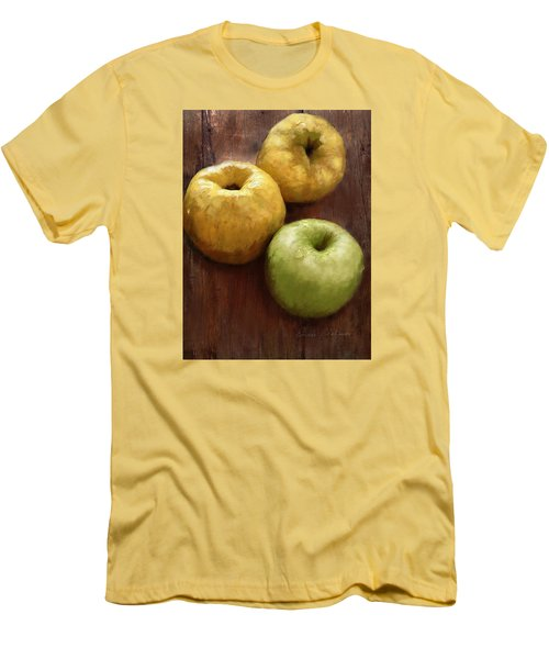 Quince And Apple Still Life Men's T-Shirt (Slim Fit) by Enzie Shahmiri