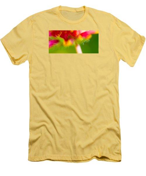 Rainbow Flower Men's T-Shirt (Athletic Fit)