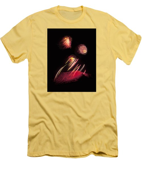 Raining Fire At Midnight Above 14000 Feet Men's T-Shirt (Athletic Fit)