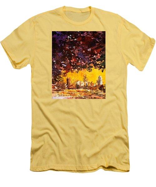 Raleigh Downtown Men's T-Shirt (Slim Fit) by Ryan Fox