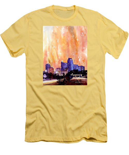 Raligh Skyline Sunset Men's T-Shirt (Slim Fit) by Ryan Fox