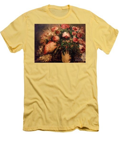 Men's T-Shirt (Athletic Fit) featuring the painting Raspberry Jammies by Laurie L