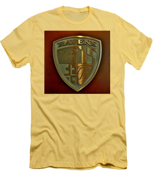 Ravens Coat Of Arms Men's T-Shirt (Slim Fit) by Robert Geary