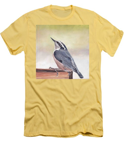 Red Breasted Nuthatch Men's T-Shirt (Athletic Fit)