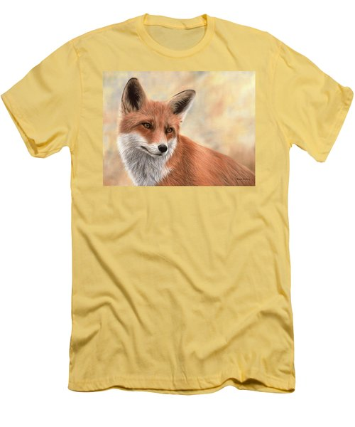 Red Fox Painting Men's T-Shirt (Athletic Fit)