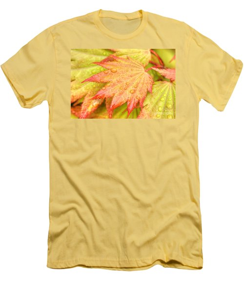 Red Tip Leaf Men's T-Shirt (Athletic Fit)
