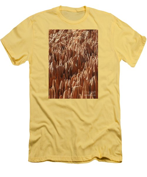 Men's T-Shirt (Slim Fit) featuring the photograph red Tsingy Madagascar 3 by Rudi Prott