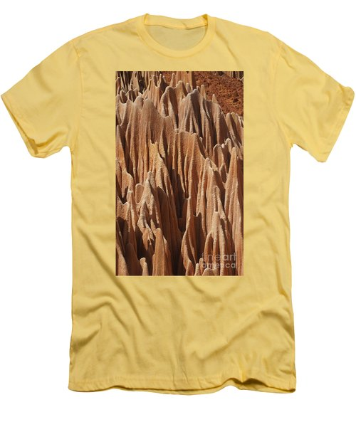 Men's T-Shirt (Slim Fit) featuring the photograph red Tsingy Madagascar 5 by Rudi Prott