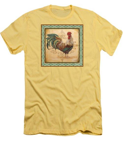 Renaissance Rooster-d-green Men's T-Shirt (Slim Fit) by Jean Plout