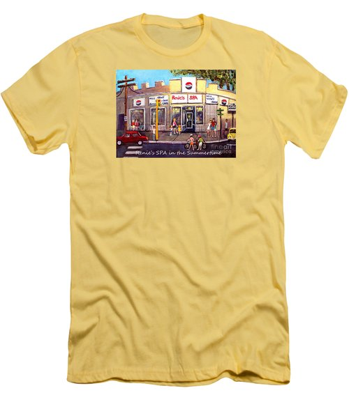 Renie's Spa In Summertime Men's T-Shirt (Slim Fit) by Rita Brown
