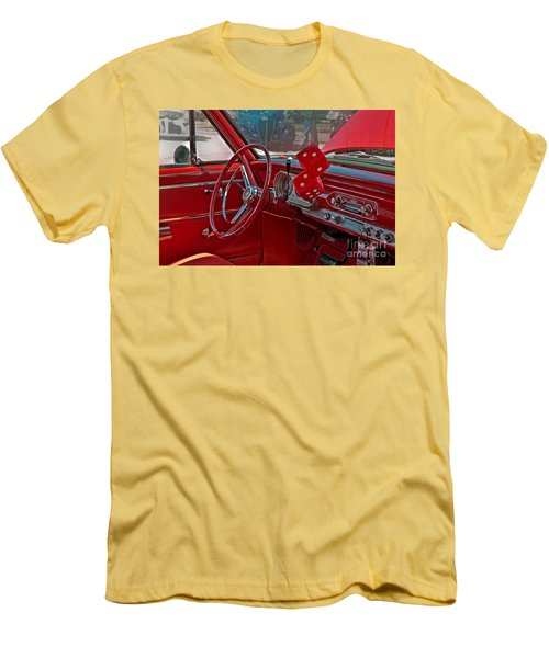 Retro Chevy Car Interior Art Prints Men's T-Shirt (Slim Fit) by Valerie Garner