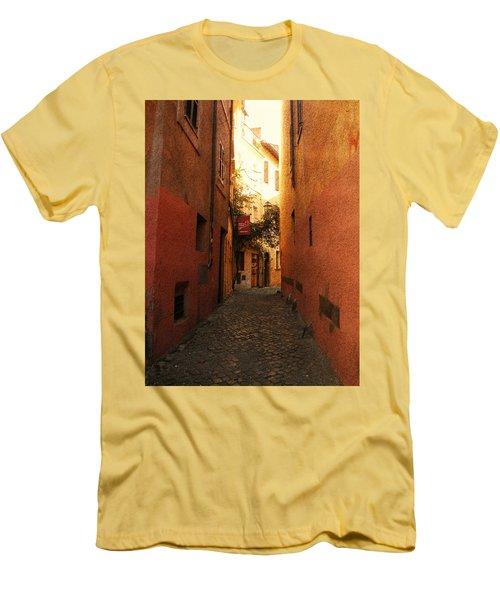 Men's T-Shirt (Slim Fit) featuring the photograph Romano Cartolina by Micki Findlay