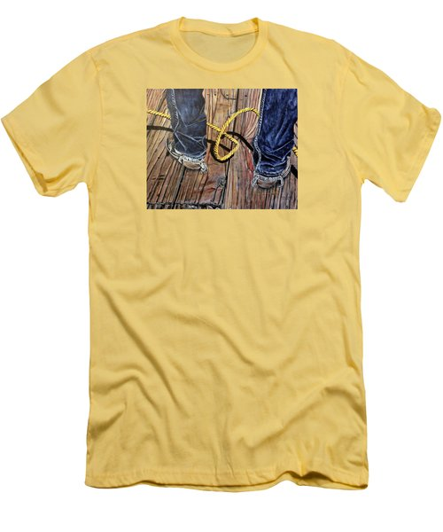 Roping Boots Men's T-Shirt (Slim Fit) by Marilyn  McNish