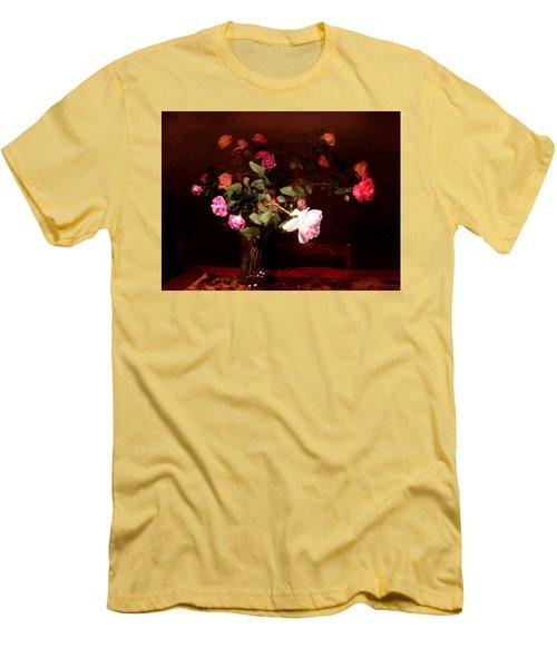 Rose Bouquet Men's T-Shirt (Slim Fit) by Steve Karol