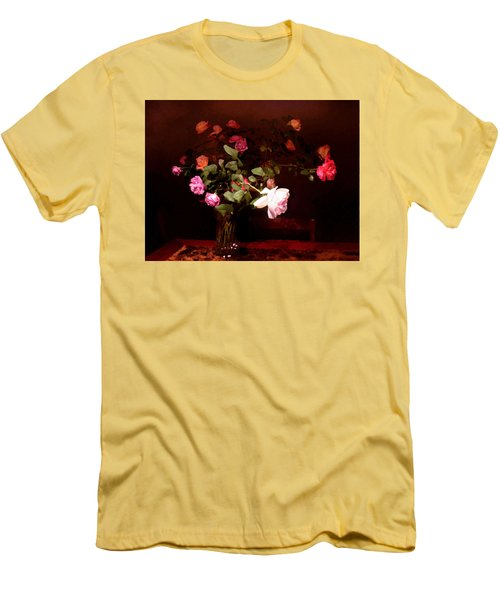 Rose Bouquet Men's T-Shirt (Slim Fit)