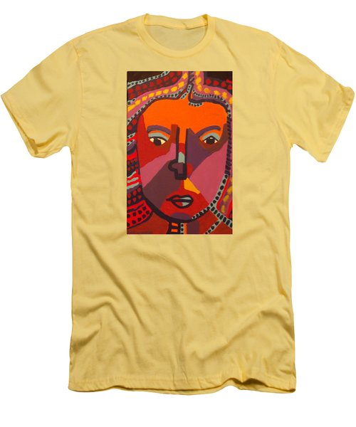 Men's T-Shirt (Slim Fit) featuring the painting Royal Buddha by Don Koester