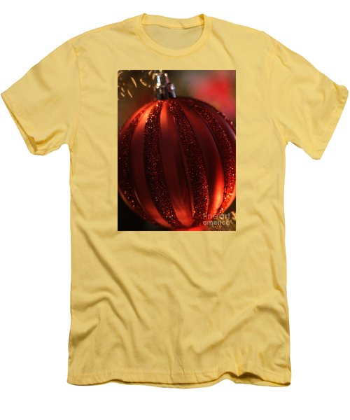 Men's T-Shirt (Slim Fit) featuring the photograph Ruby Red Christmas by Linda Shafer