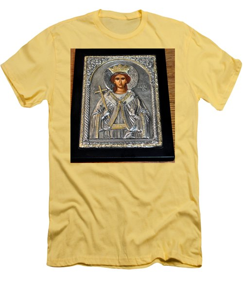 Russian Byzantin Icon Men's T-Shirt (Slim Fit) by Jay Milo