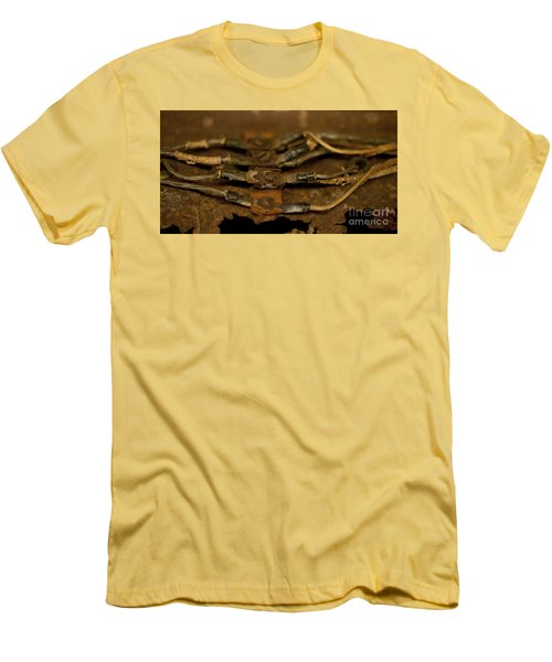 Rusty Wires Men's T-Shirt (Slim Fit) by Wilma  Birdwell